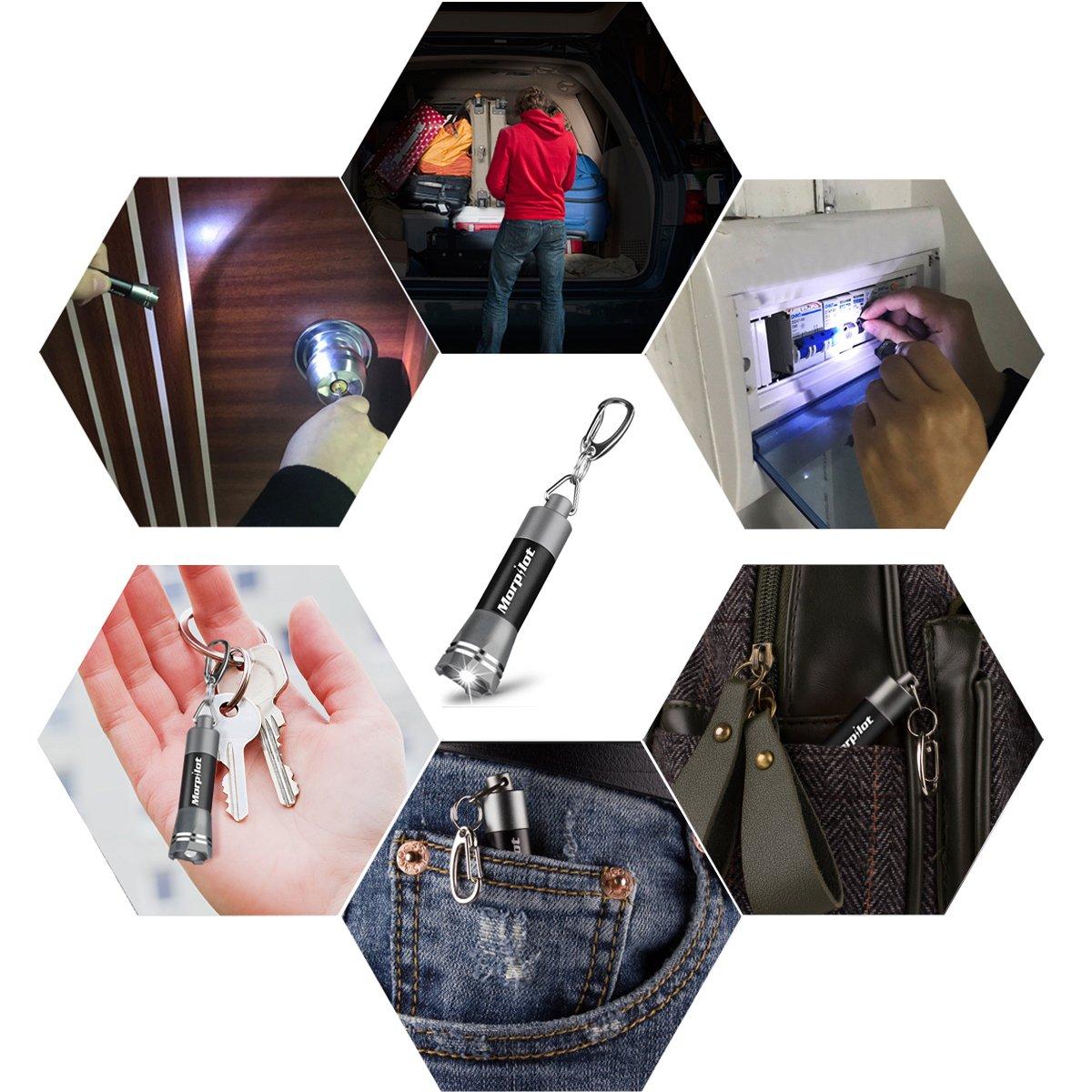 12 LED UV Flashlight Urine Detector - Morpilot Upgrade Ultraviolet Black Light Flashlight with Mini Keychain White Flashlight,for Detect Bed Carpet Bug Dog Urine Stain Scorpion