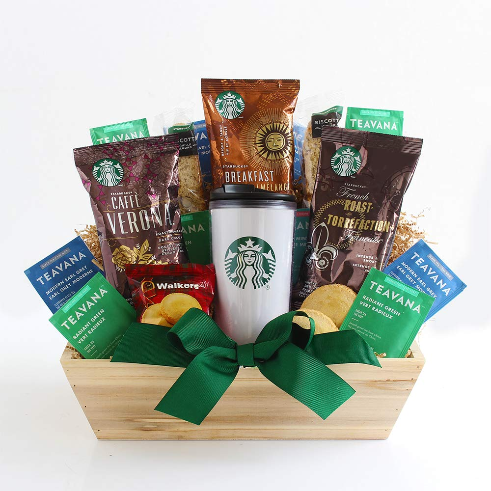 California Delicious Starbucks Daybreak Gourmet Coffee Gift Basket 71Wop3MTVeL