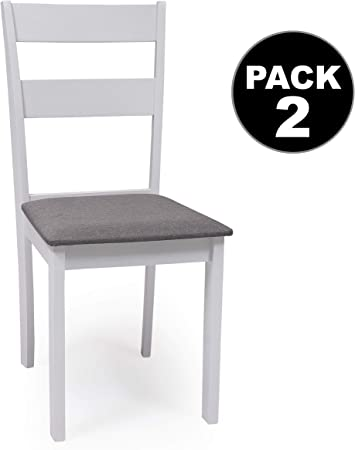 Dallas Set di 2 sedie per sala da pranzo o cucina, in