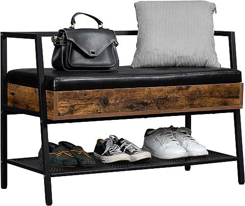 VINGLI Industrial Shoe Rack Bench