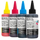 Non-OEM Universal Pigment and Dye Based Printer Ink Bottles for CISS or Refillable Cartridges 100ml B,C,M,Y *** Priced To Clear ***