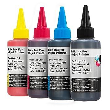 Non-OEM Universal Dye Based Printer Ink Bottles for CISS or ...