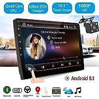 GOFORJUMP 10 Pouces Android 8.1 Universel Autoradio 2 din autoradio Android Lecteur DVD GPS Navigation WiFi Bluetooth MP5 Lecteur avec Vue arrière Caméra