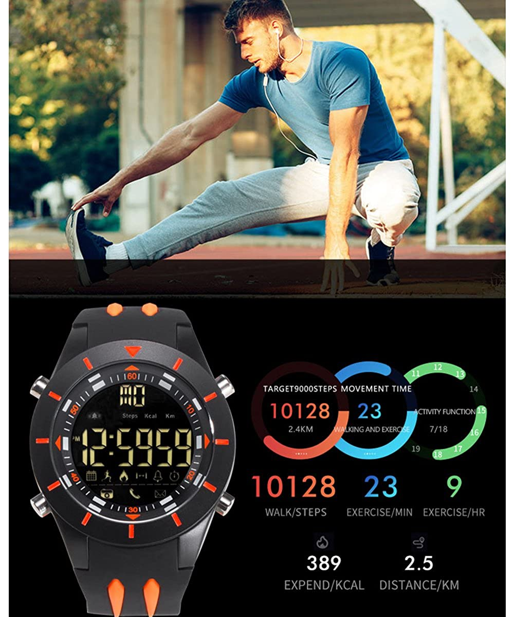 Amazon.com: Gents Newest Electronic Bluetooth Smart Watch for Android Iphone Smartwatch Reloj Inteligente for Men: Watches