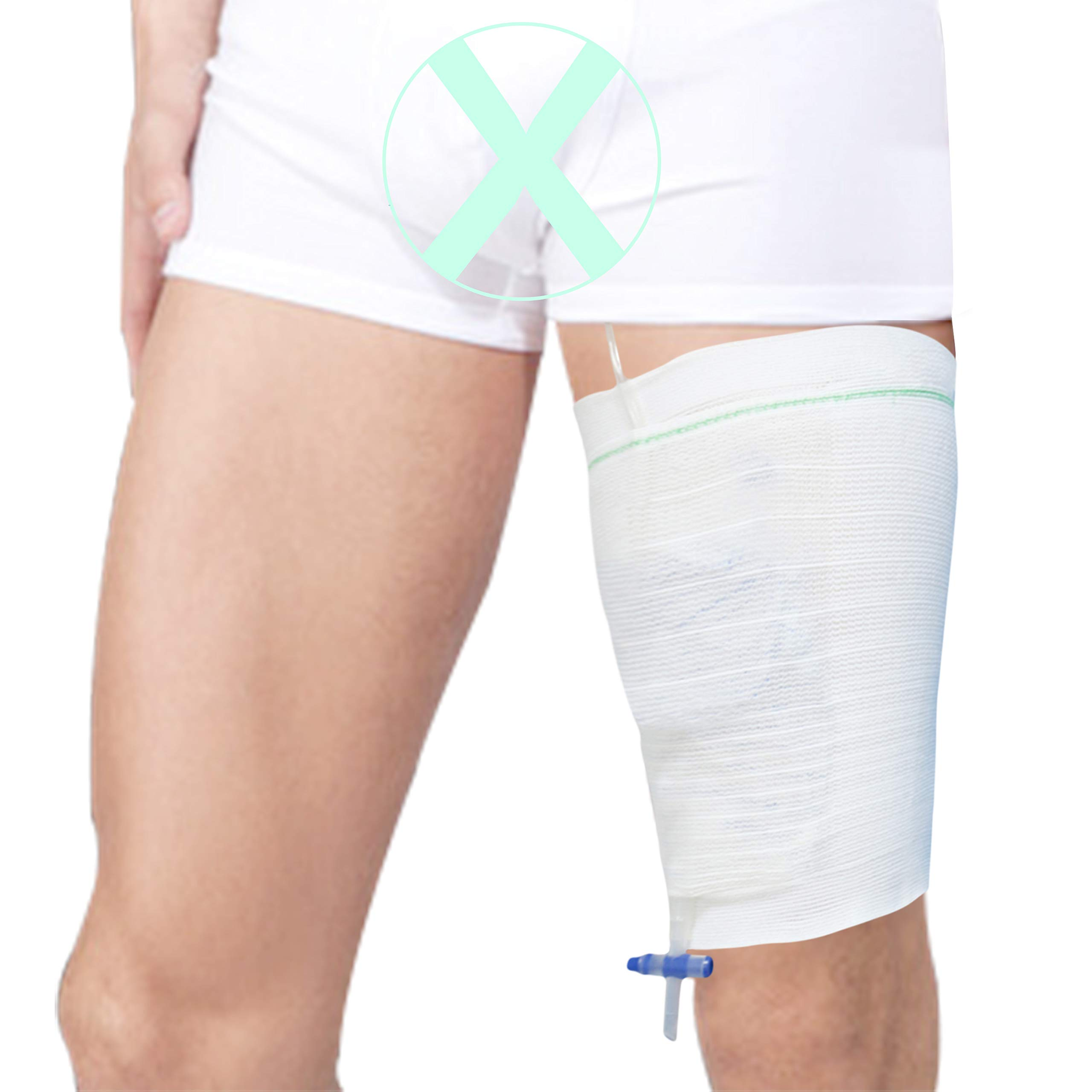 Urine Bag Holder Carer 2pcs Drainage Bag Covers Catheter Bag Leg Sleeve Urinary Incontinence Supplies Large