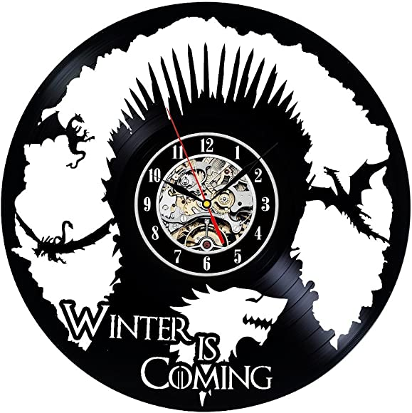 Vinyl Record Clock Game of Throne Theme Wall Decor
