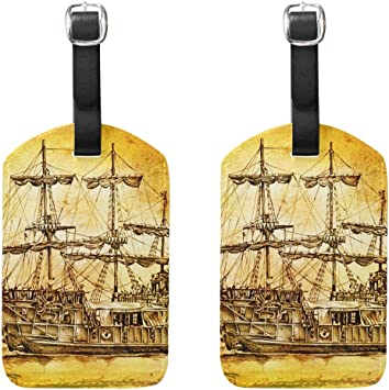 2 Pack Luggage Tags Sailboat Cruise Luggage Tag For Suitcase Bag Accessories