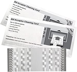 Bill Acceptor Cleaning Cards featuring Waffletechnology with Miracle Magic, KW3-BMB15M(15 Cards/Box)