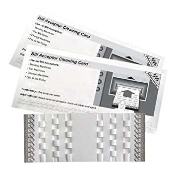 Amazon.com: Bill Acceptor Cleaning Cards featuring ...