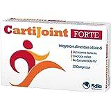 CartiJoint Forte Integratore Alimentare a Base di Glucosamina Cloridrato, Condroitin Solfato e Bio-Curcumin Bcm-95-20 compresse