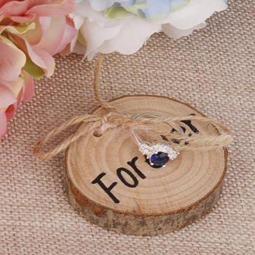 Caja rústica de madera, de LianLe, como estuche para anillo de ...