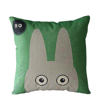 ME COO 2016 Vintage Cartoon Blend Decoration Pillow Case Cute Cartoon Totoro cat Cushion Home Sitting Room Office Zipper Decorative Throw Pillows ...