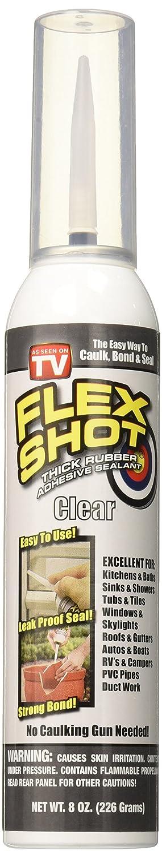 Flex Shot 8oz Rubber Sealant (FSH8C), 8 oz, Clear