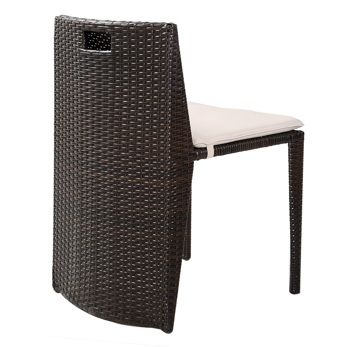 Amazon.com : Goplus 3 PCS Cushioned Outdoor Wicker Patio Set Seat ...