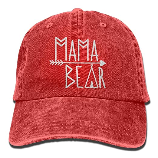5000474c502 Image Unavailable. Image not available for. Color  Mama Bear Denim Hat  Adjustable Women Dad Baseball Hat