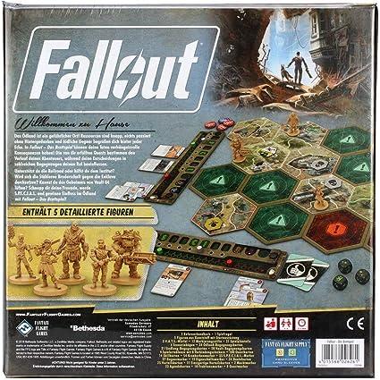 Fantasy Flight Games FFGD0161 Fallout: Das Brettspiel, Merhfarbig: Amazon.es: Juguetes y juegos