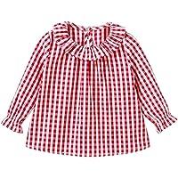 Camiseta de algodón con Mangas largas para niñas