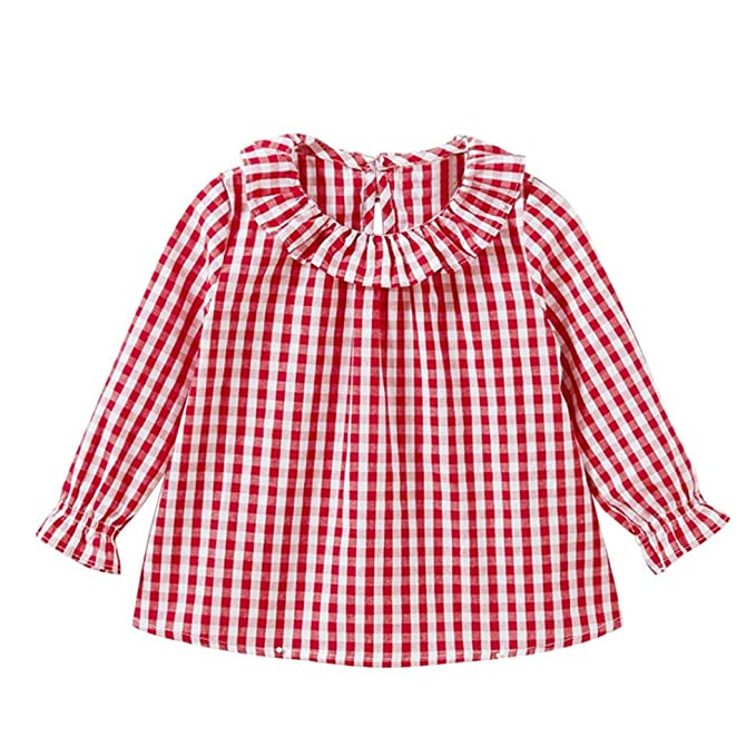 80c993fc6 Camiseta de algodón con mangas largas para niñas