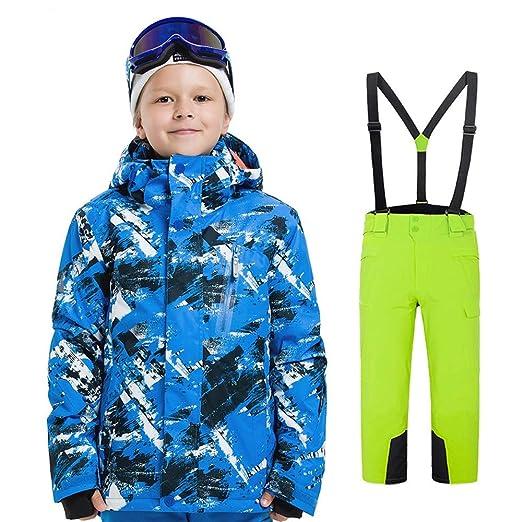 Traje de Nieve para niños Traje a Prueba de Viento Traje de ...