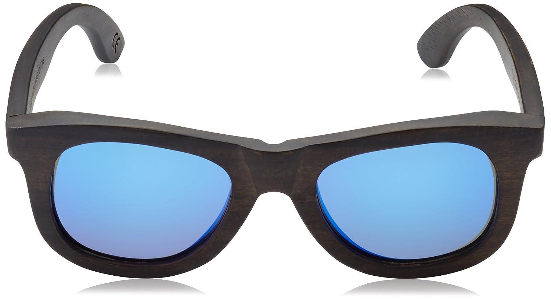 HÄRVIST, Waywood - Gafas de sol de madera, unisex, color ébano / azul, talla Talla única: Amazon.es: Ropa y accesorios