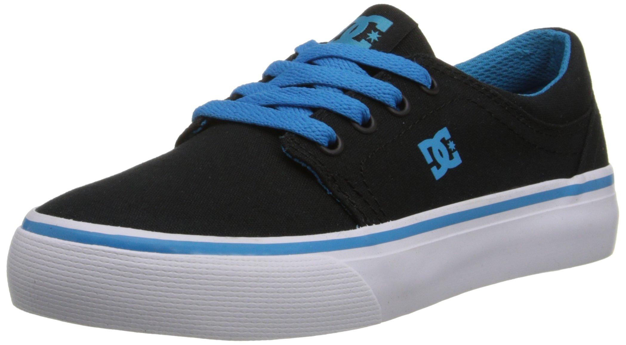 DC Trase TX Skate Shoe,Black/Turquoise,11.5 M US