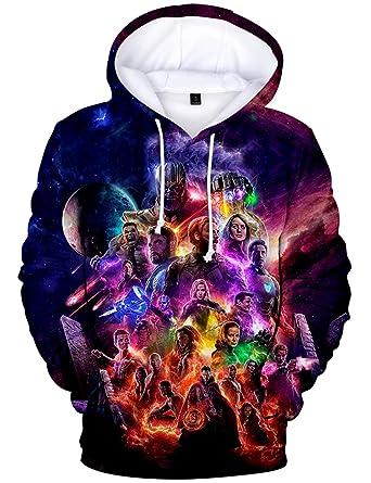ff2bf33e0 Men's Avengers Endgame Hoodie Superhero Quantum Realm Sweatshirt ...