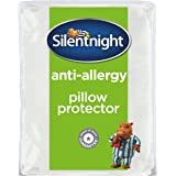 Silentnight Anti-Allergy Pillow Protector Plus, White, Pack of 2