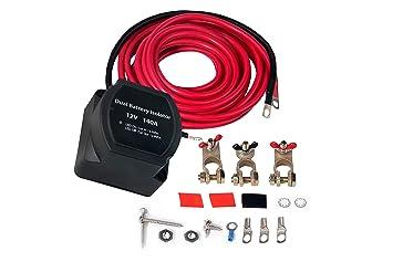 Amazon.com: Kit de aislamiento de batería dual – 12 V 140 A ...