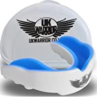 UK Warrior Gum Shield Mouth Guard Gum Guard Gumshield - Ideal For Contact Sports, Rugby, Martial Arts, Karate, Rugby, MMA, Boxing, Hockey, Football - With Free Carry Case - Gumshields