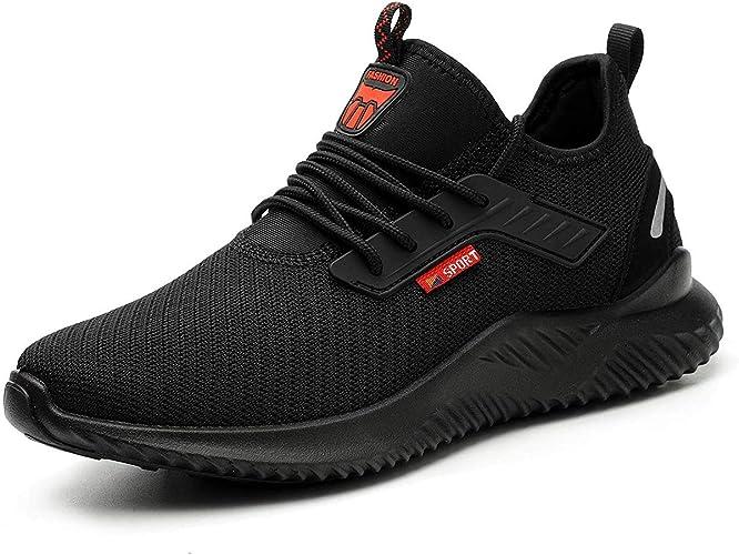 PWLSHN Safety Shoes Men Women Steel Toe