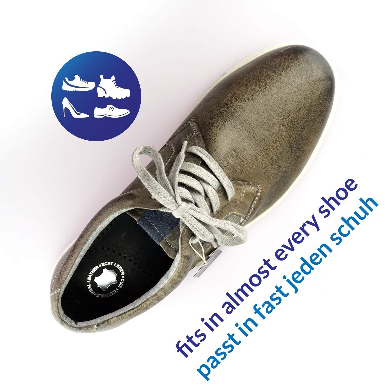 Mittelfu/ßst/ütze die Komfort Schuh Einlegesohlen Leder wohltuend f/ür F/ü/ße Obermaterial weiches angenehmes Schafsleder mit Aktivkohle Pelotte und Fersenpolster Smart/&Gentle Leder Fu/ßbett