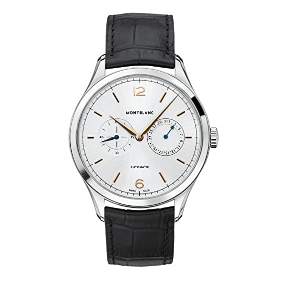 RELOJ MONTBLANC 114872 HERITAGE CHRONOMÉTRIE TWINCOUNTER DATE: Amazon.es: Relojes