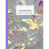 Composition Book Angel Aura Rainbow Opalescent Crystal Wide Rule: Shiny Glowing...