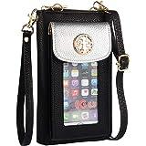 Heaye Crossbody Cell Phone Purse for Women Wristlet Wallet with Phone Holder Handbag