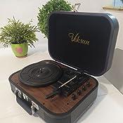 Tocadiscos de Vinilo,VOKSUN Tocadiscos Bluetooth y codificador ...