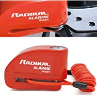 Radikal RK66R Candado Antirrobo Disco Alarma 110 db Universal Moto, Scooter, Bicicleta, Patinete, Regalo Cable…