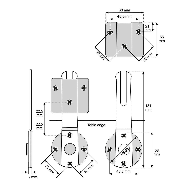 Tischverbinder Arbeitsplattenverbinder Arbeitsplattenverbinder