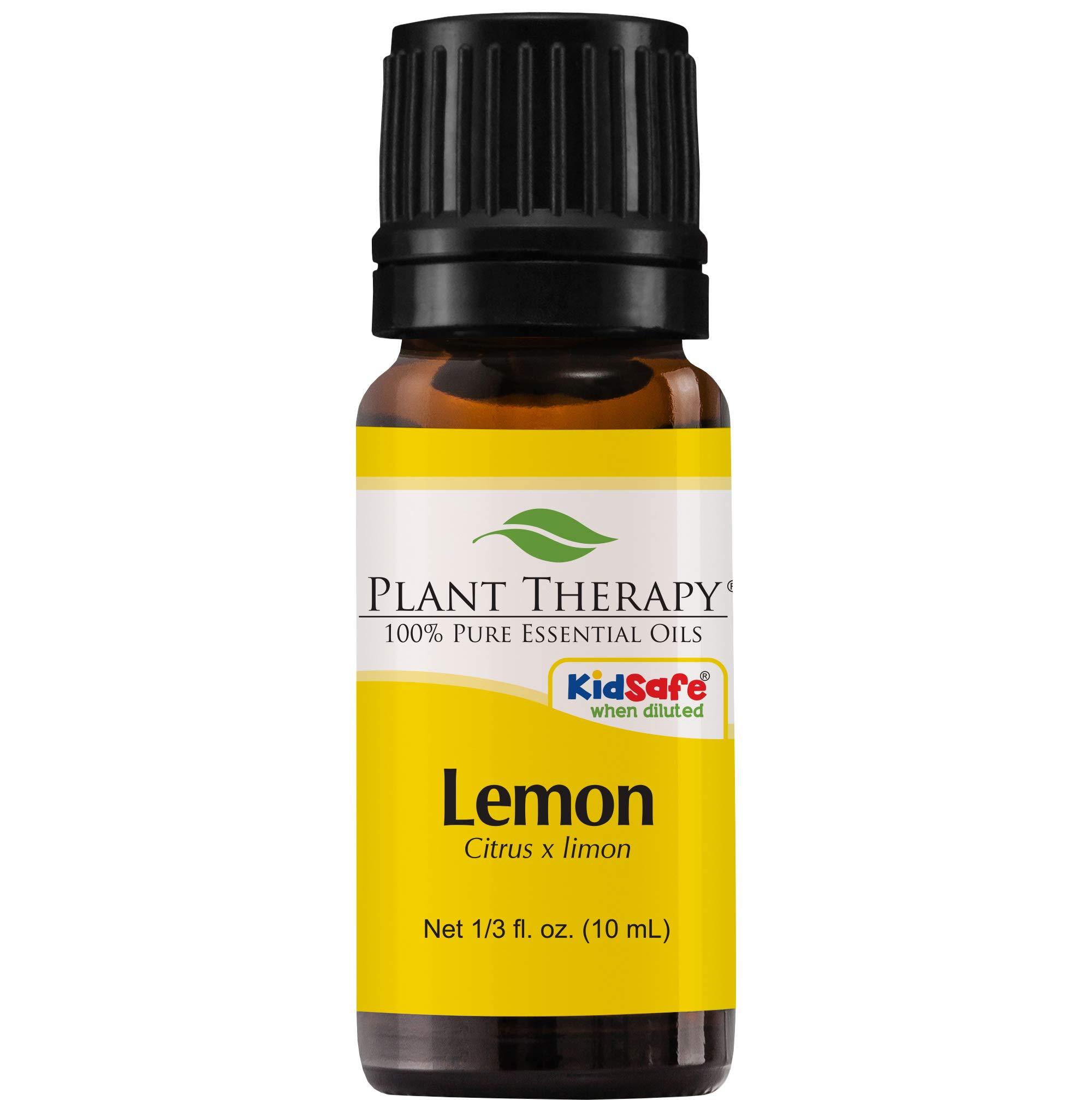Plant Therapy Lemon Essential Oil 10 mL (1/3 oz) 100% Pure, Undiluted, Therapeutic Grade