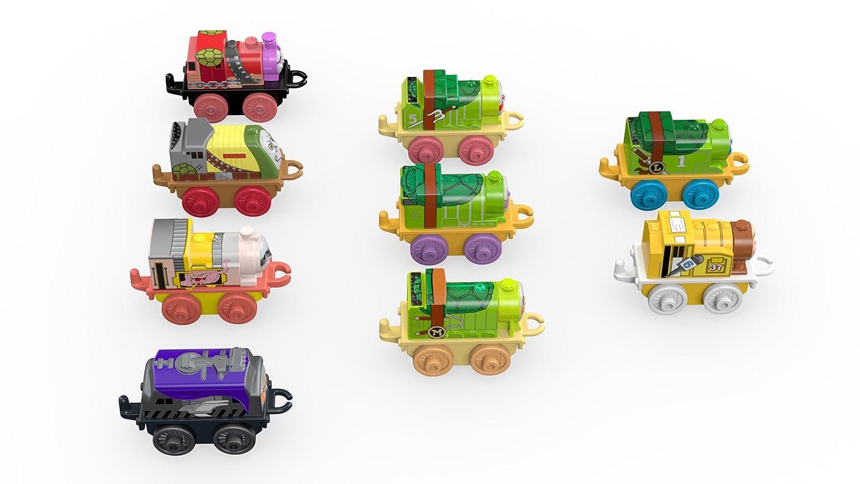 Fisher-Price FDV89 Teenage Thomas & Friends Minis Mutant Ninja Turtles - Juego de 9 Trenes, Multicolor
