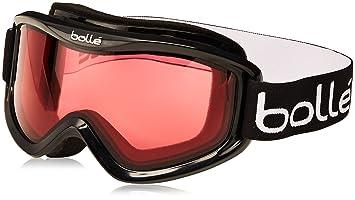 41a03fafab Bolle Mojo Snow Goggles (Shiny Black, Vermillon): Amazon.ca: Sports ...
