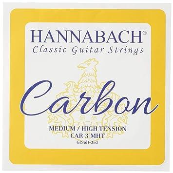 Hannabach Cuerdas Para Guitarra Clasica Carbono Tension Media/Alta - Cuerda Suelta G3/Sol3: Amazon.es: Instrumentos musicales
