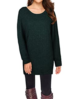 STYLEWORD Women s Long Batwing Sleeve Pullover Loose Casual Knitted Sweater ec6b7fc65