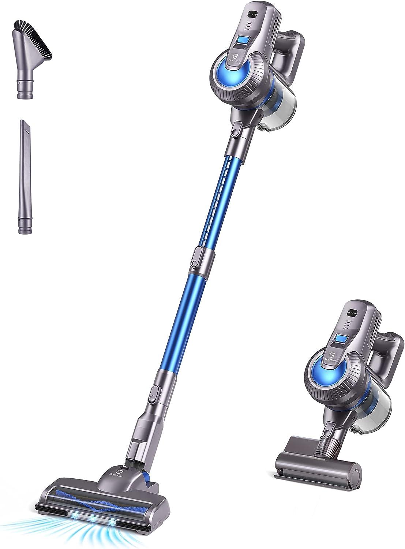 Greenote Cordless Vacuum Cleaner, 23000PA Stick Vacuum 4 in 1, 200W with Dual Digital Motor LED Headlights, 35 Mins Runtime, Handheld Lightweight Vacuum for Home Hard Floor Carpet Pet Car