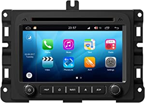 RoverOne Android System in Dash Car DVD GPS Navigation System for Dodge RAM 1500/2500/3500 2013 2014 2015 with Stereo Radio Bluetooth GPS USB Mirror Link Touch Screen