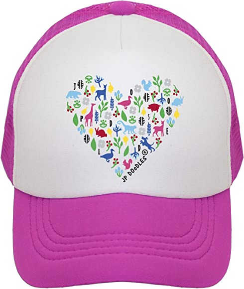 6c170747 Heart on Kids Trucker Hat. The Kids Baseball Cap is Available in Baby,  Toddler