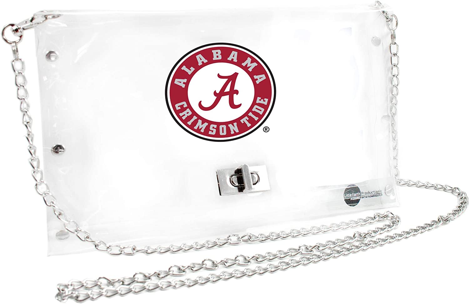 Littlearth Alabama Crimson Tide  NCAA Envelope Purse 10 x 0.5 x 6.5 Clear Inch