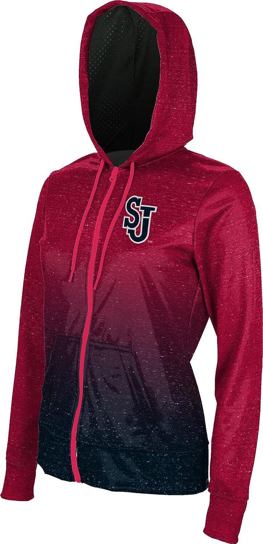 Johns University Girls Zipper Hoodie Ombre School Spirit Sweatshirt St