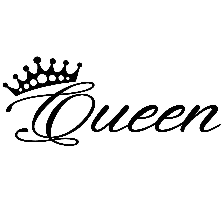 Amazon com vinyl wall decal stickers bedroom decor words queen inspiring letters crown 2033ig 22 5 in x 9 in home kitchen