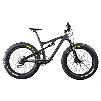 Amazon.com : ICAN Full Suspension Carbon Fat Bike with 11 Speed XT ...