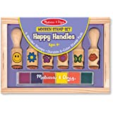 Melissa & Doug 2407 Happy Handle Stamp Set,Multi Color